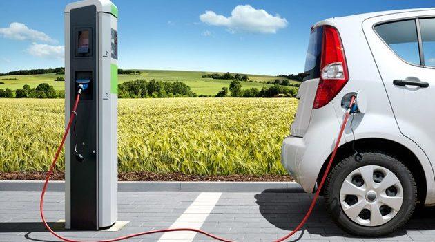 punto de recarga para un coche eléctrico