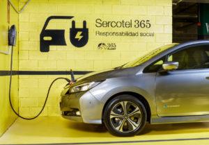 Punto de recarga coche eléctrico en hotel